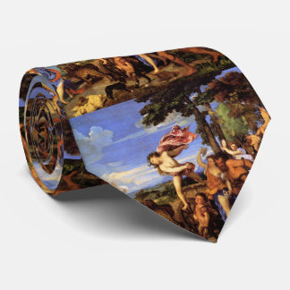Bacchus and Ariadne by Titian Neck Tie