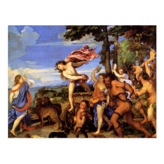 Bacchus and Ariadne by Titian Postcard