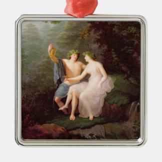 Bacchus and Ariadne Metal Ornament