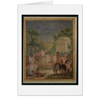 Bacchus and Ariadne (oil on canvas) 2 Card