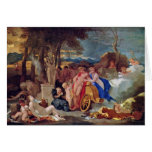 Bacchus And Ceres With Nymphs And Satyrs By Bourdo Greeting Card