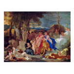 Bacchus And Ceres With Nymphs And Satyrs By Bourdo Post Cards