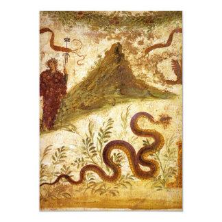 Bacchus and Serpent Agathodaimon in Pompeii Card