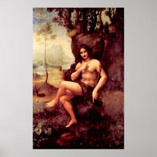 Bacchus by Leonardo da Vinci Posters