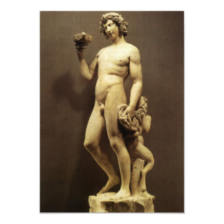 Bacchus by Michelangelo Custom Invites