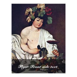 Bacchus By Michelangelo Merisi Da Caravaggio Flyer Design