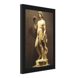 Bacchus by Michelangelo Vintage Renaissance Statue Canvas Print