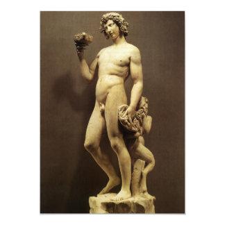 Bacchus by Michelangelo Vintage Renaissance Statue 5x7 Paper Invitation Card