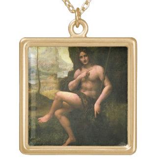 Bacchus, c.1695 (oil on canvas) square pendant necklace
