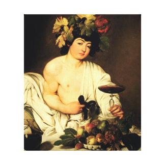 Bacchus de Caravaggio Impresión En Lienzo