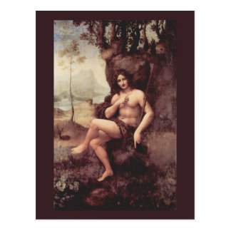 Bacchus de Leonardo da Vinci Tarjeta Postal