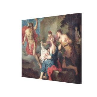 Bacchus entregado a las ninfas de Nysa Lona Estirada Galerías