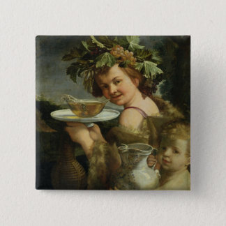 Bacchus (oil on canvas) button