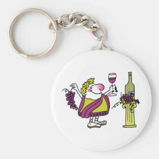 Bacchus & Wine Basic Round Button Keychain