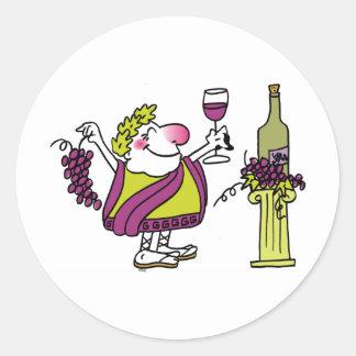 Bacchus & Wine Classic Round Sticker