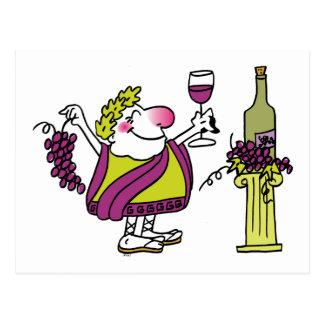 Bacchus & Wine Postcard