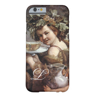 BACCHUS WITH GRAPES AND WINE MONOGRAM BARELY THERE iPhone 6 CASE