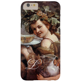 BACCHUS WITH GRAPES AND WINE MONOGRAM BARELY THERE iPhone 6 PLUS CASE