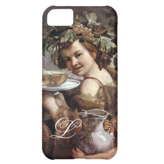 BACCHUS WITH GRAPES AND WINE MONOGRAM iPhone 5C COVER