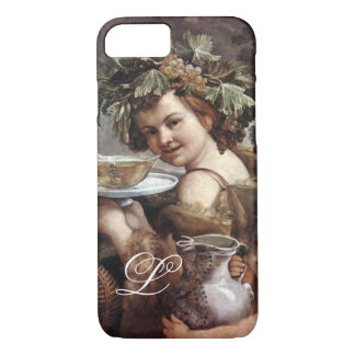 BACCHUS WITH GRAPES AND WINE MONOGRAM iPhone 8/7 CASE