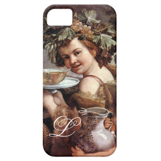BACCHUS WITH GRAPES AND WINE MONOGRAM iPhone SE/5/5s CASE