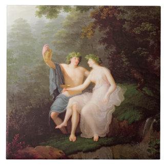 Bacchus y Ariadne Azulejo Cuadrado Grande