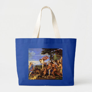 Bacchus y Ariadne por Titian Bolsa Tela Grande