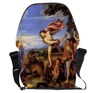 Bacchus y Ariadne por Titian Bolsas De Mensajeria
