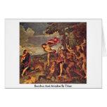 Bacchus y Ariadne por Titian Felicitación