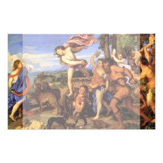 Bacchus y Ariadne por Titian Flyer Personalizado