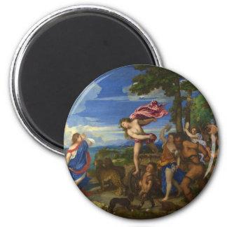 Bacchus y Ariadne por Titian Imanes Para Frigoríficos