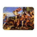 Bacchus y Ariadne por Titian Iman Flexible