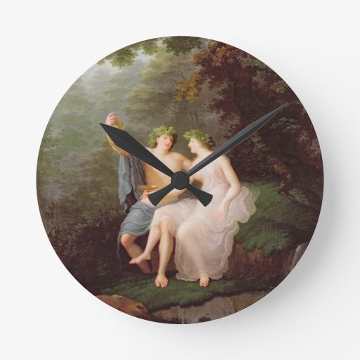 Bacchus y Ariadne Reloj Redondo Mediano