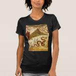 Bacchus y serpiente Agathodaimon en Pompeya Camiseta