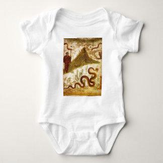 Bacchus y serpiente Agathodaimon en Pompeya Poleras