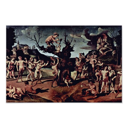 Baccus Discovered The Honey By Piero Di Cosimo (Be Poster