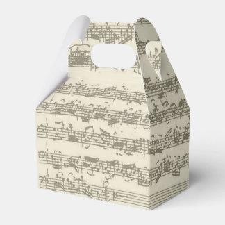 Bach 2nd Cello Suite Music Manuscript Favor Box
