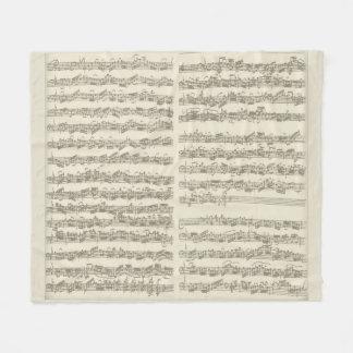 Bach 2nd Cello Suite, Several Manuscript Pages Fleece Blanket