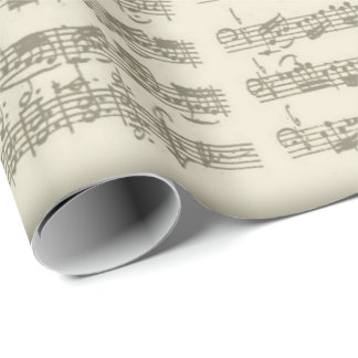 Bach 2nd Cello Suite, Several Manuscript Pages Wrapping Paper
