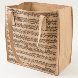 Bach 3rd Partita Music Manuscript Tote