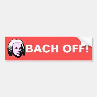 Bach apagado pegatina para auto