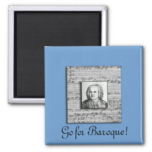 Bach Baroque Music Magnet