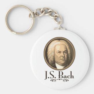 Bach Basic Round Button Keychain