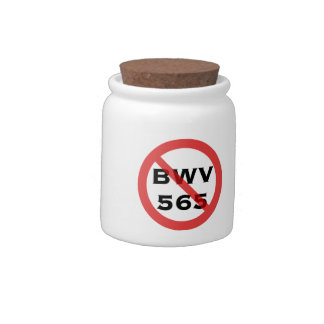 Bach BWV 565 banned Candy Jar
