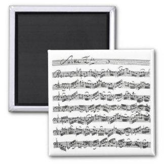 Bach Cello Suite 2 Inch Square Magnet