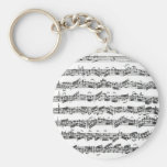 Bach Cello Suite Basic Round Button Keychain