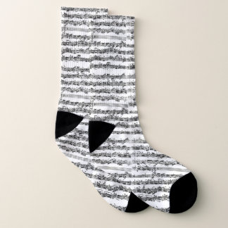 Bach Cello Suite Handwritten Excerpt Socks