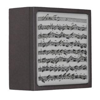Bach Cello Suite Handwritten Keepsake Box