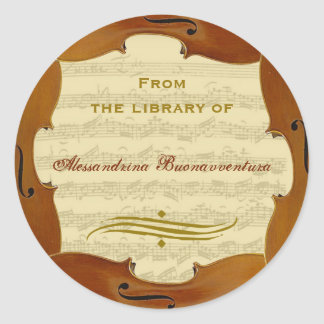 Bach Cello Suite Manuscript Customizable Bookplate