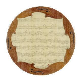 Bach Cello Suite Manuscript in Cello Frame Cutting Board